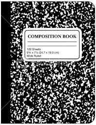 Composition Book with cardboard cover--standard.