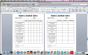 I have a couple of different rubrics in this file. Adapted from Beth Newingham's rubrics and adapted for my liking and grading system. Similar to my writing rubrics and oral presentation criteria charts.