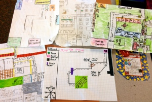 Collection of some of the different maps my students created.