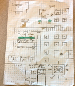 One student's map: Voted most accurate of the campus