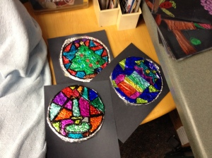 Some finished stained glass projects!  Love.