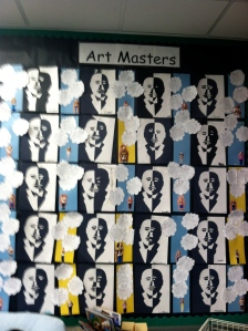 Positive and Negative Space MLK and I Have a Dream wall.  Love!