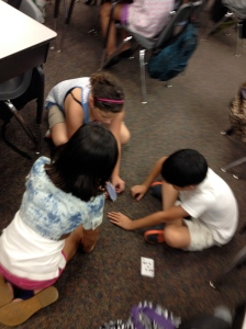 Working together- Easy ice breaker activity...building a house of cards