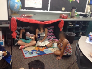 Kids LOVED the reading cave!  Also had a couch and cozy chairs in the room.  So easy to please!