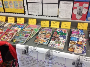 We tallied up the total number of books read for each group then the entire class. Fantastic!