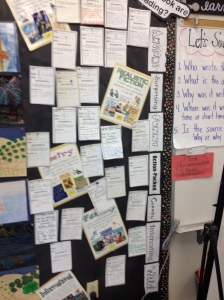 Changed around my bk rec. wall because st were struggling with the genres. Needed to bring clarity.