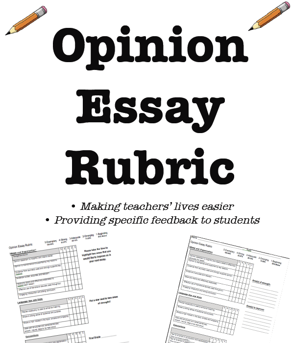rubric for writing an opinion essay